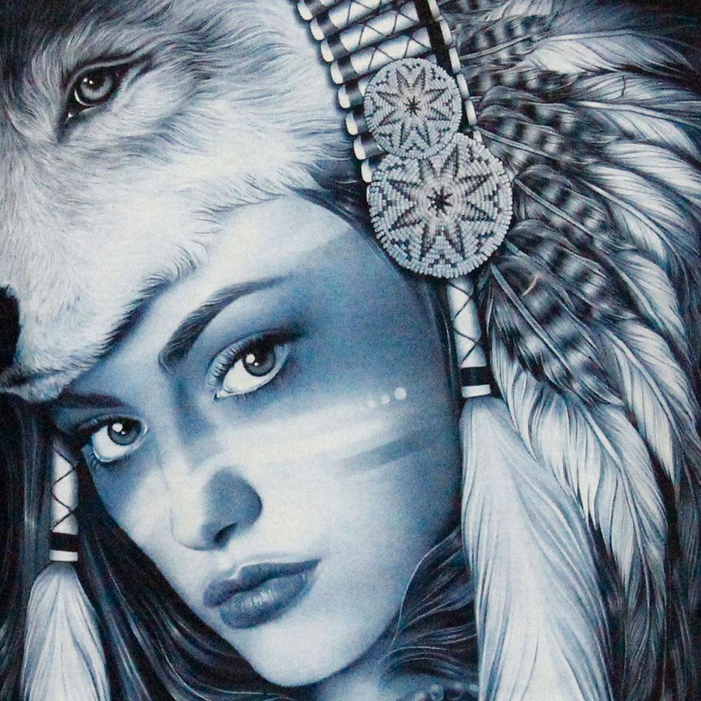 T-shirt Native American Girl Glow in the Dark