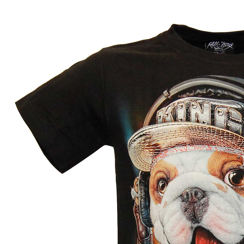 T-shirt DJ dog Glow in the Dark