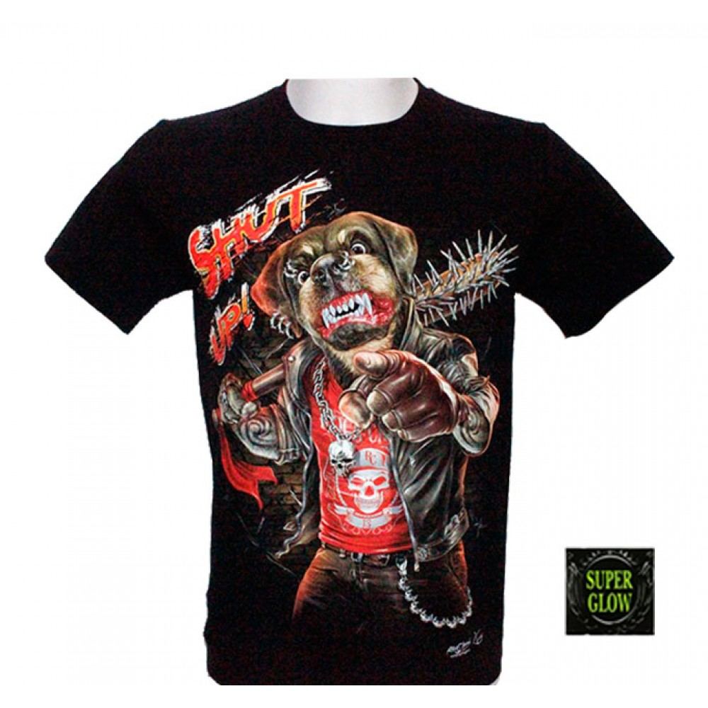 T-shirt Noctilucent 'Shut Up!'