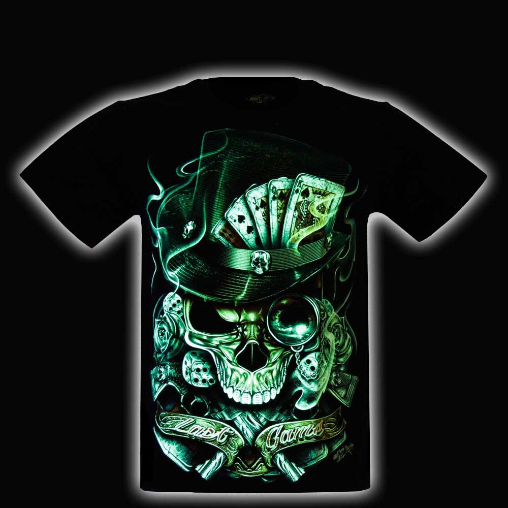 T-shirt Skull Glow in the Dark