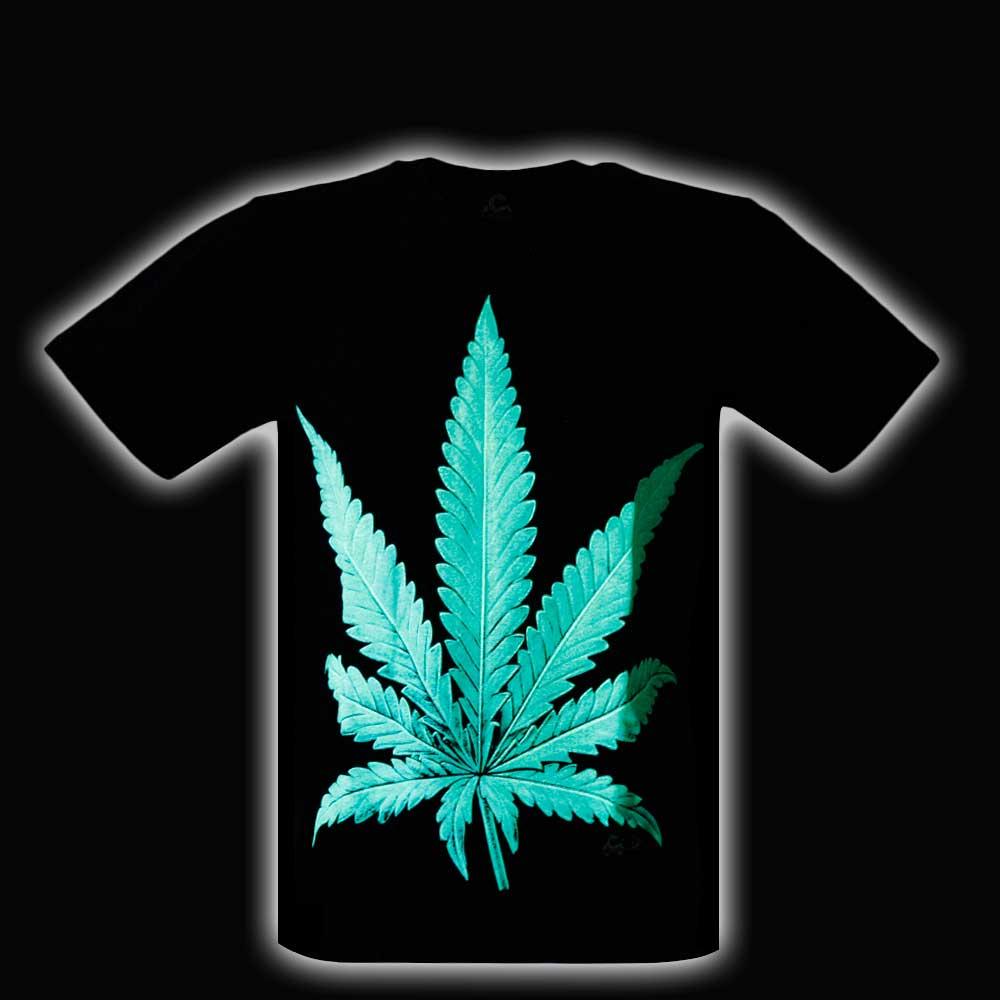 T-shirt Leaf Glow in the Dark