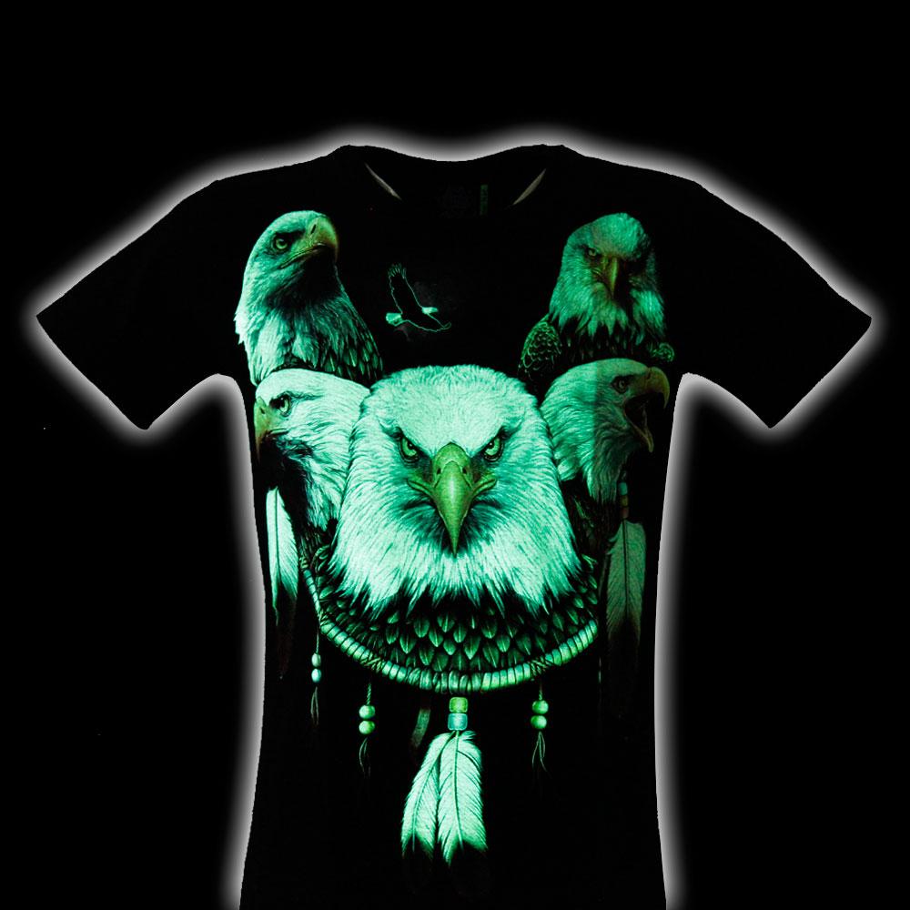 T-shirt Noctilucent Amulet with Eagle