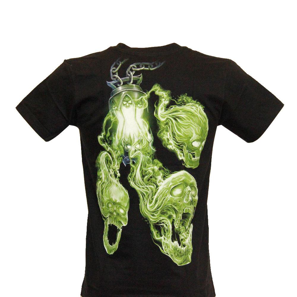 T-shirt Noctilucent Green Skull