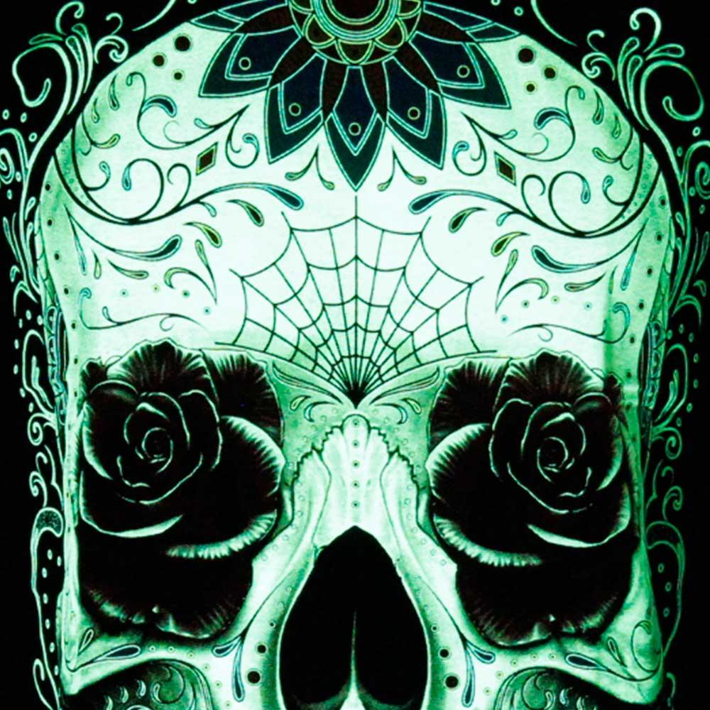 T-shirt Sugar Skull Glow in the Dark