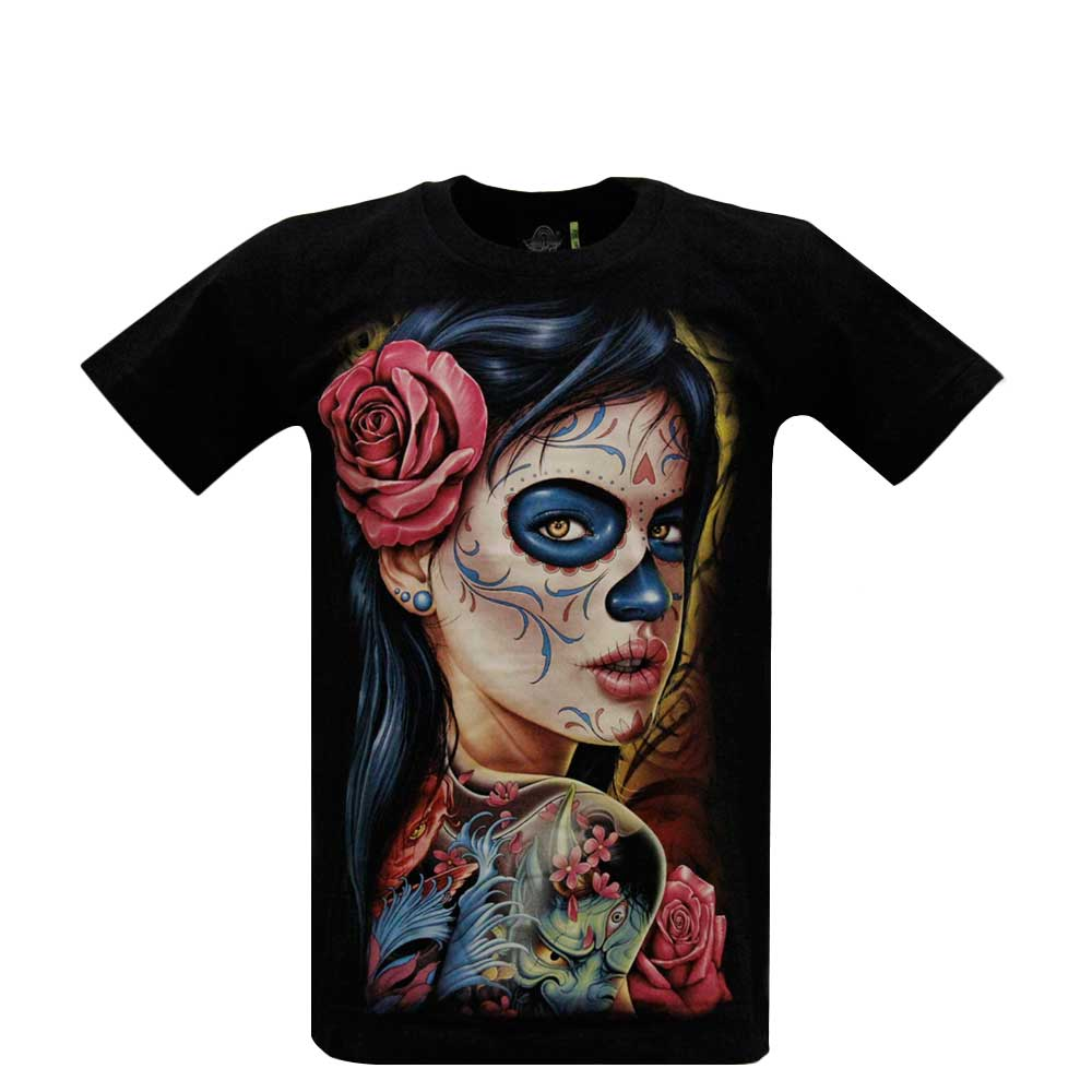 T-shirt Tattooed Girl  Glow in the Dark
