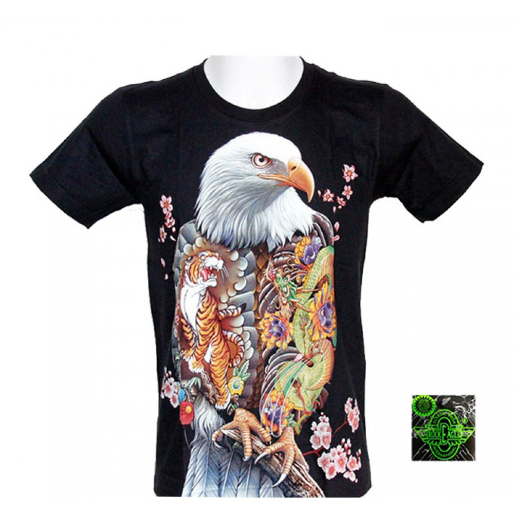 T-shirt Noctilucent Decorated Eagle