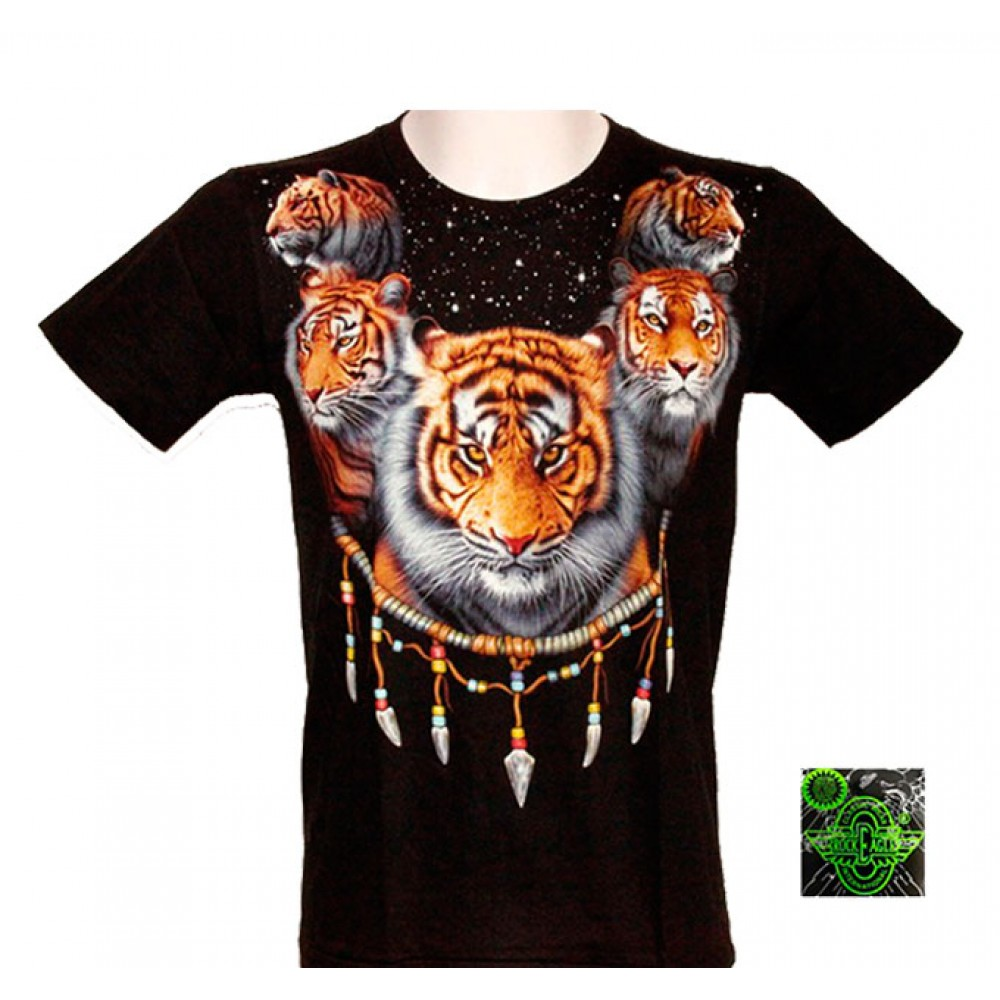 T-shirt Noctilucent Amulet with Tiger