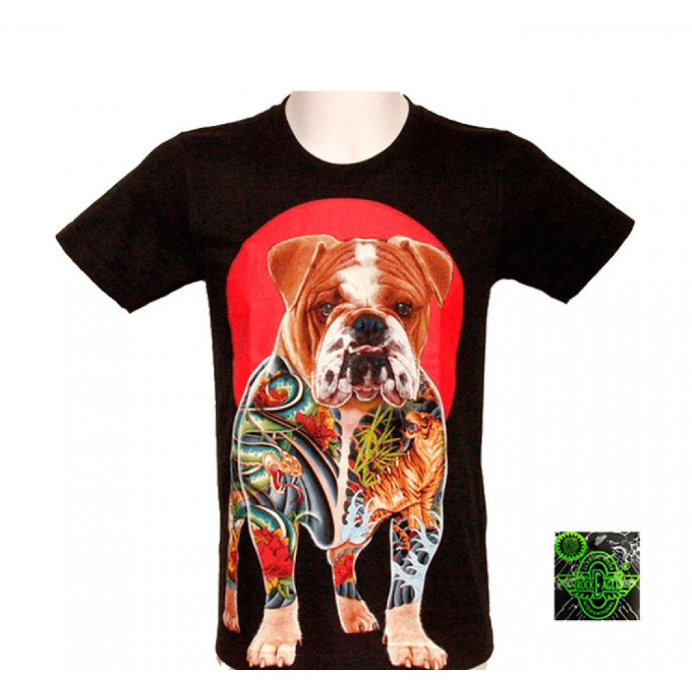 T-shirt Noctilucent Decorated Bulldog