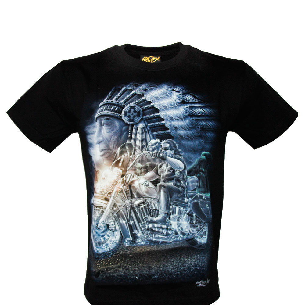 T-shirt HD Motorciclist and Indian