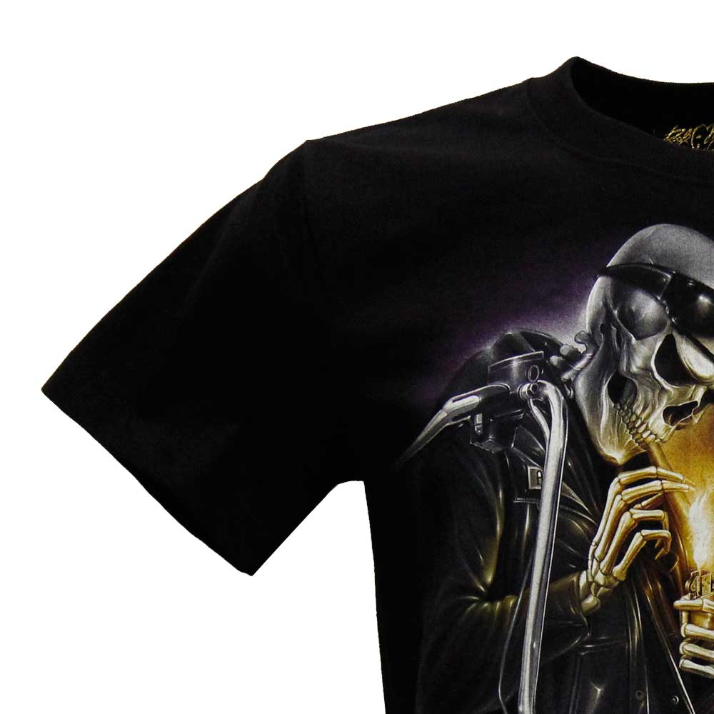 T-shirt HD Motorciclist and Skull