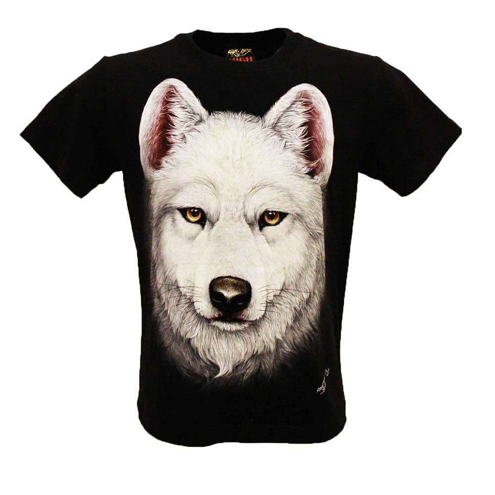 T-shirt HD White Wolf