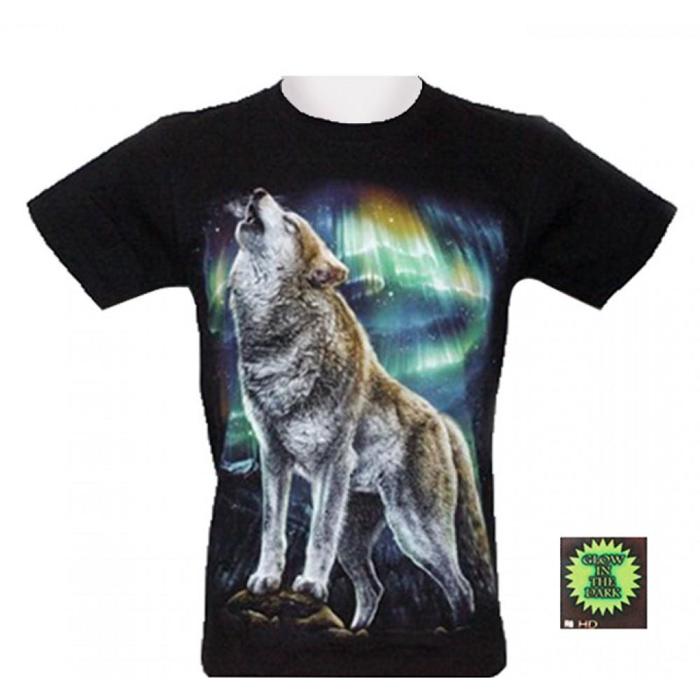T-shirt HD Wolf and Aurora