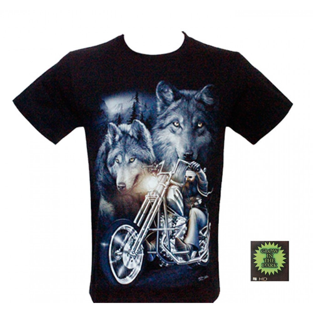 T-shirt HD Motorciclist and Wolves