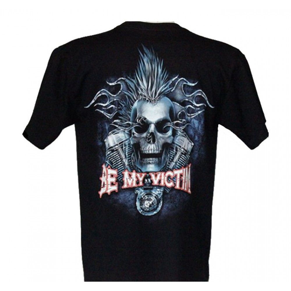 T-shirt HD Skull with Motorcycle