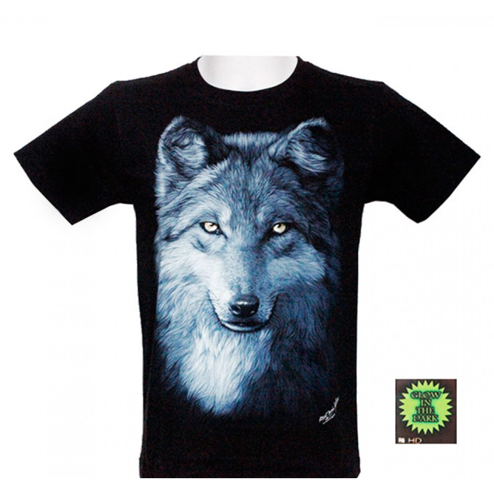 T-shirt HD Wolf with Blue Eyes