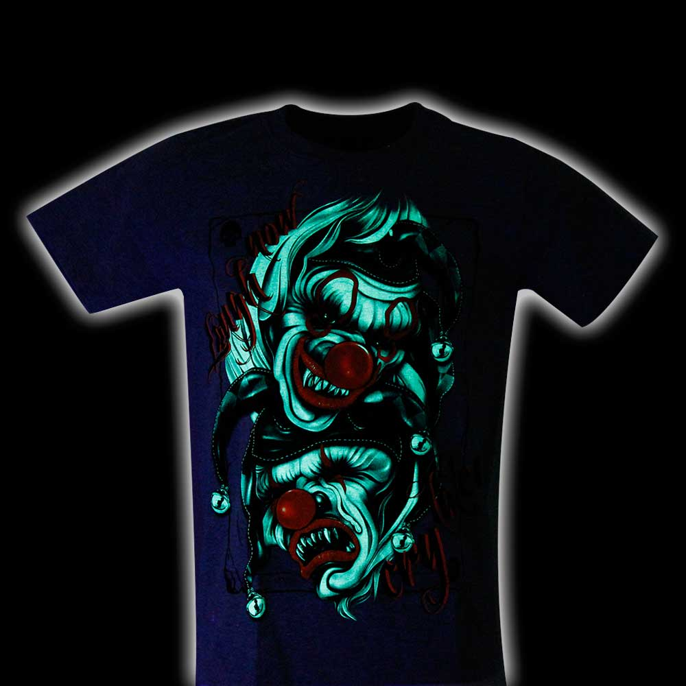 Gray T-shirt Joker Glow in the Dark