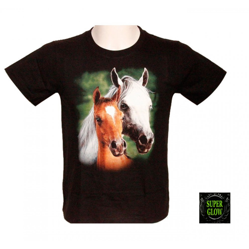 T-shirt Noctilucent Horse Kid