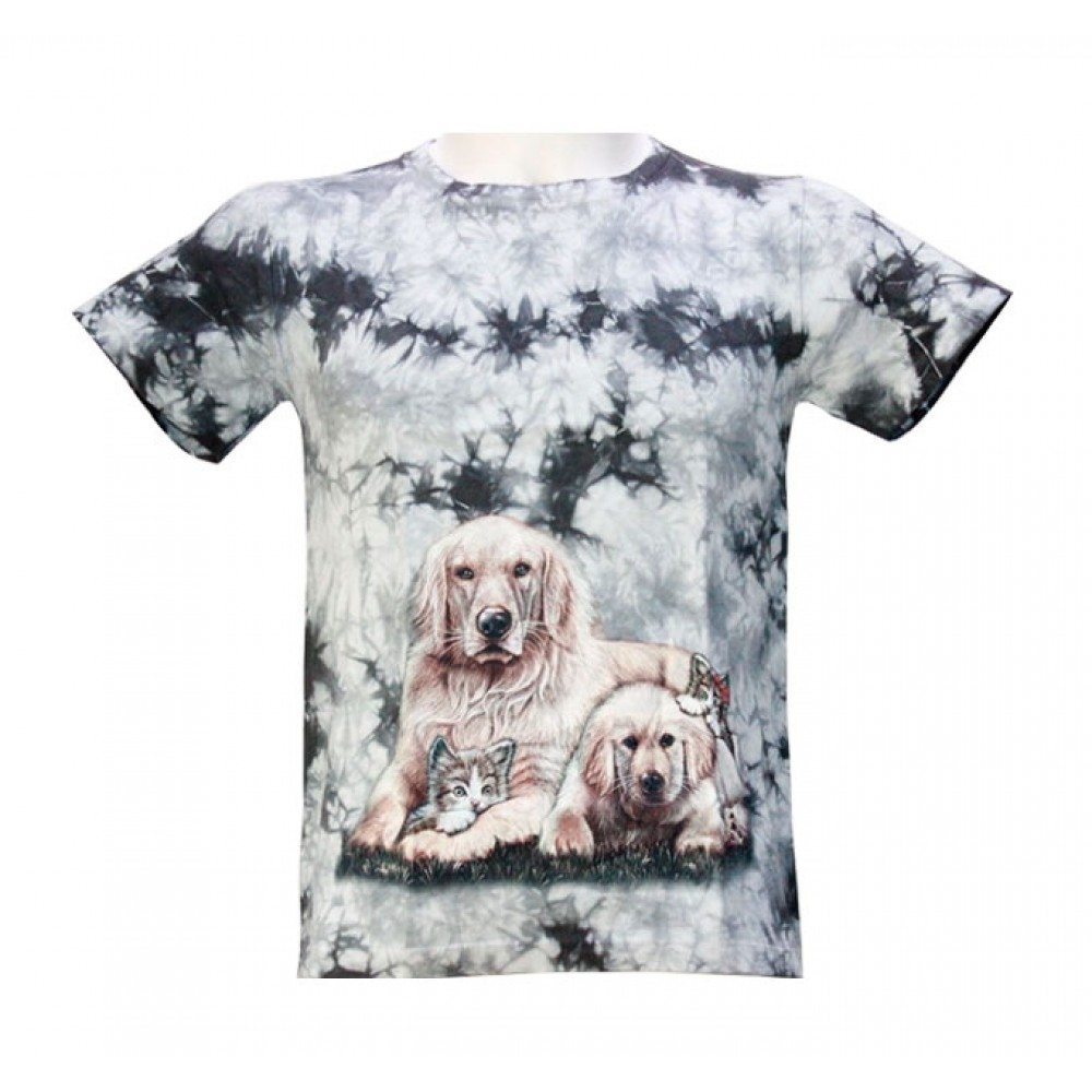 T-shirt Kid Tie-dye Dog