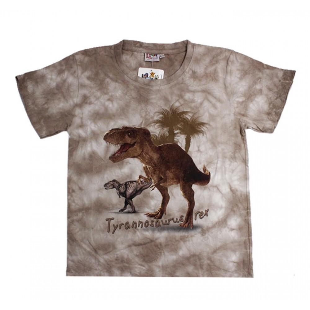 T-shirt Kid Tie-dye Dinosaur
