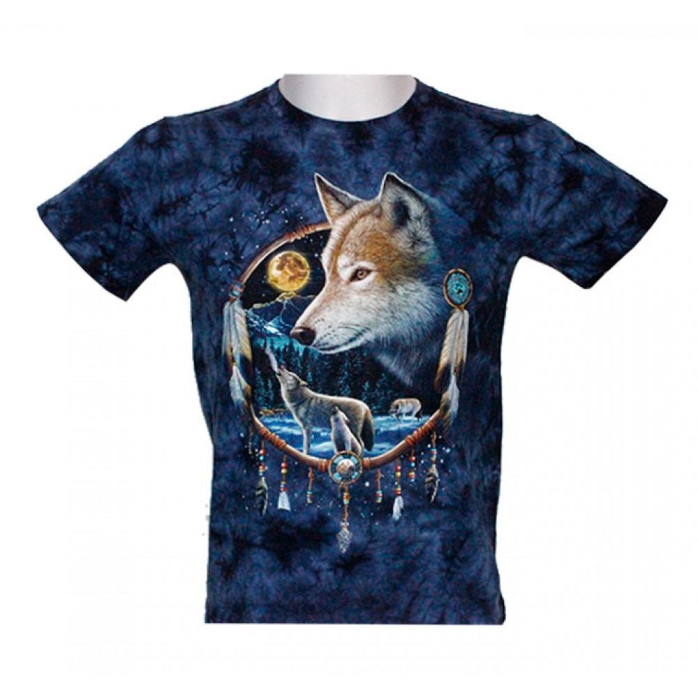 T-shirt Kid Tie-dye Wolf