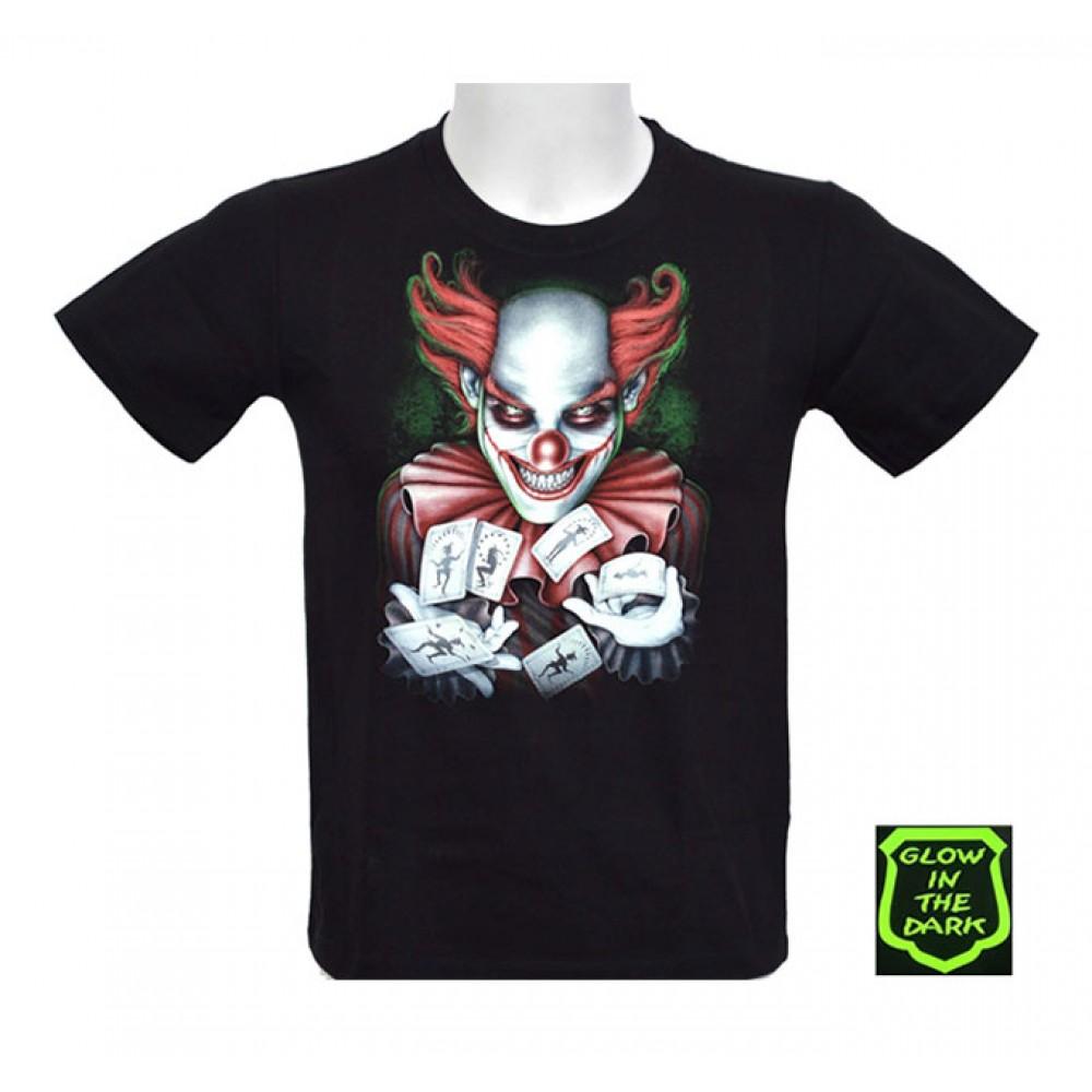 T-shirt Noctilucent Clown Kid