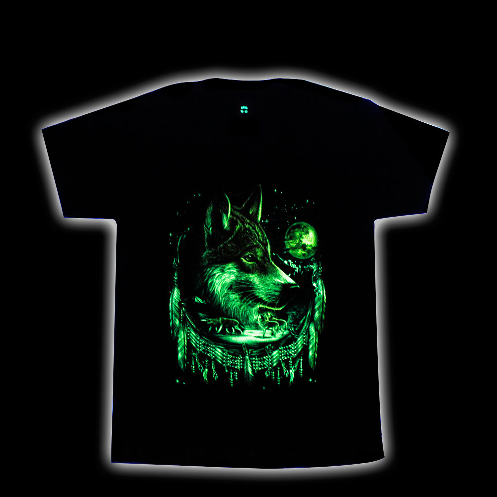 T-shirt Noctilucent Wolf Kid