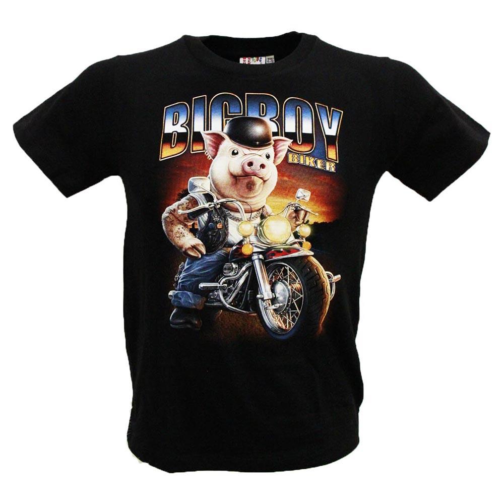 T-shirt Noctilucent  kid Biker Pig
