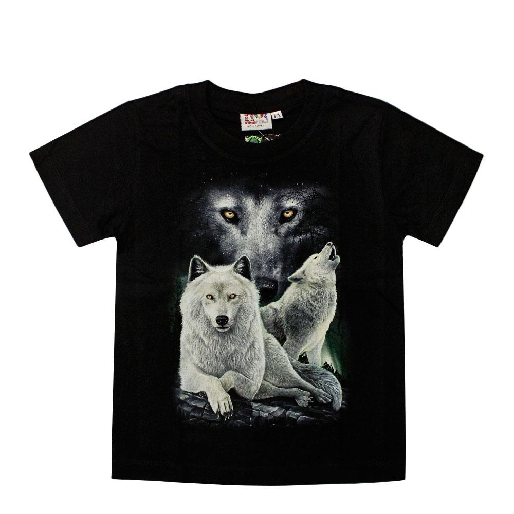 T-shirt Noctilucent Wolf Kid