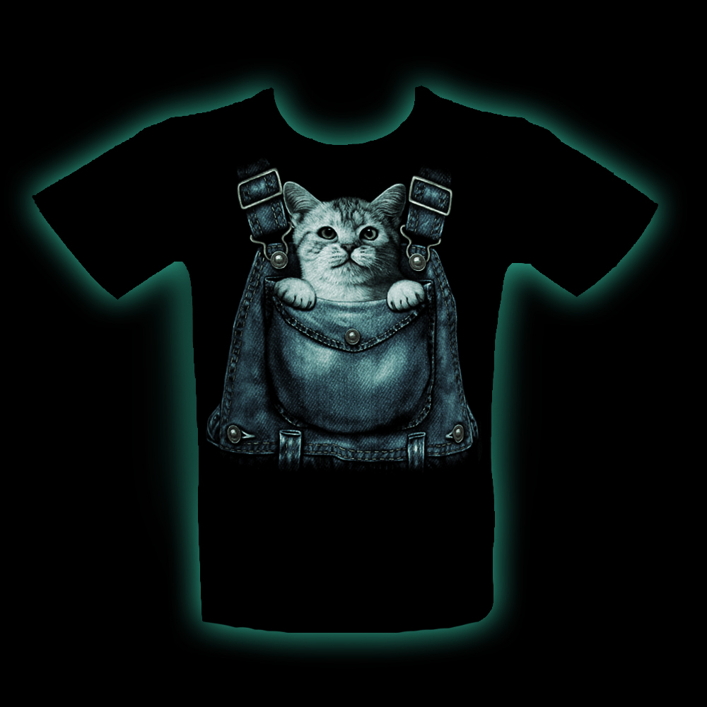 T-shirt Noctilucent Kid Kitty