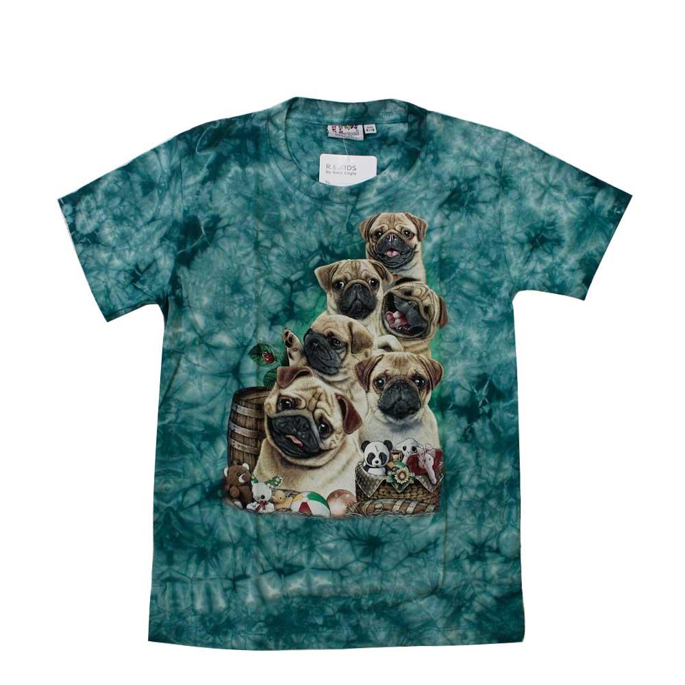 T-shirt Kid Tie-dye Bulldog
