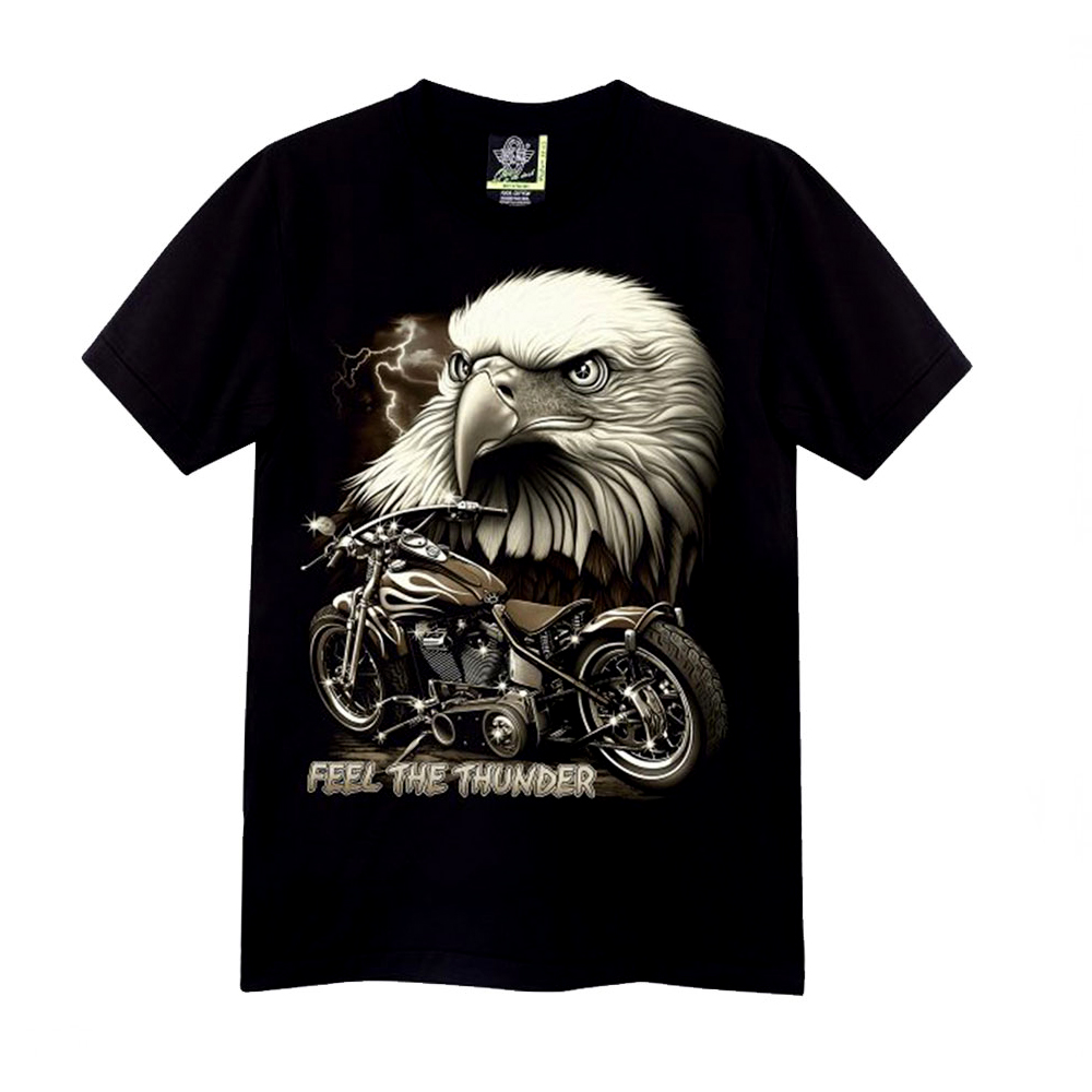 T-shirt Kid Noctilucent Eagle and Motorcyclist