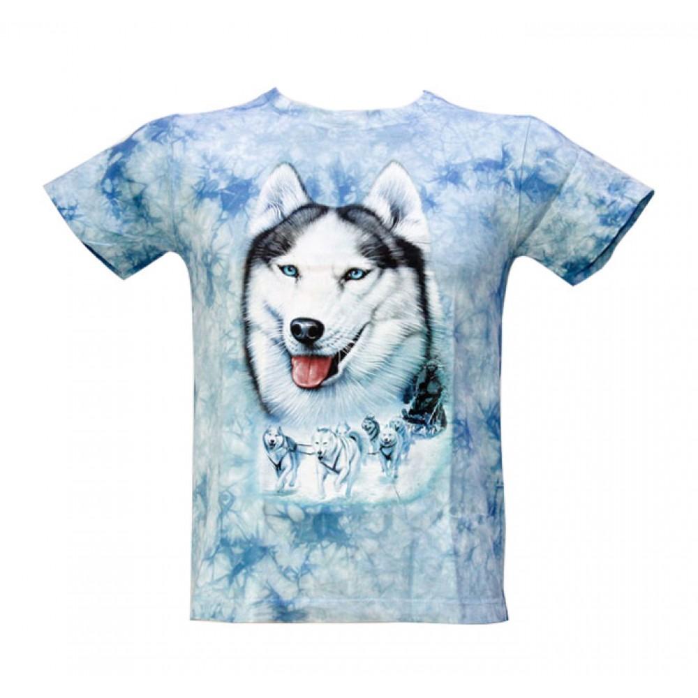 T-shirt Kid Tie-dye Siberian Husky