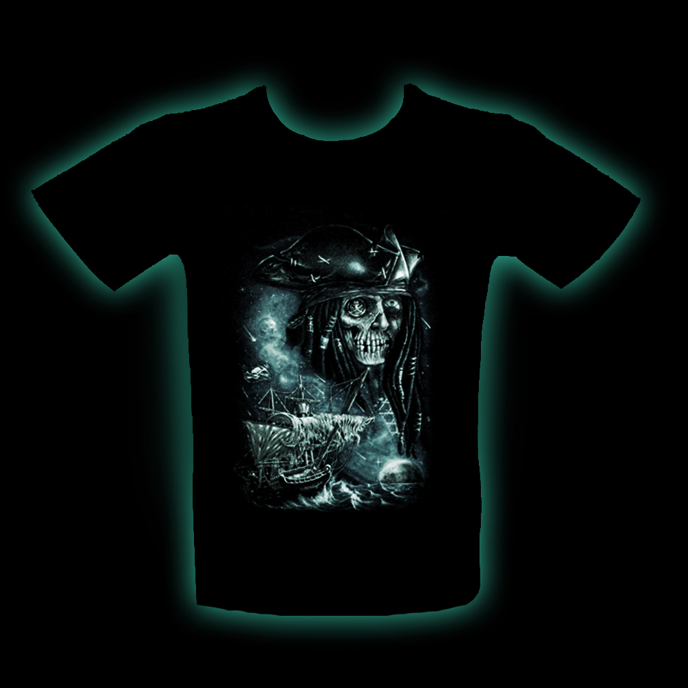 Kid T-shirt Noctilucent Pirate Ghost Skull