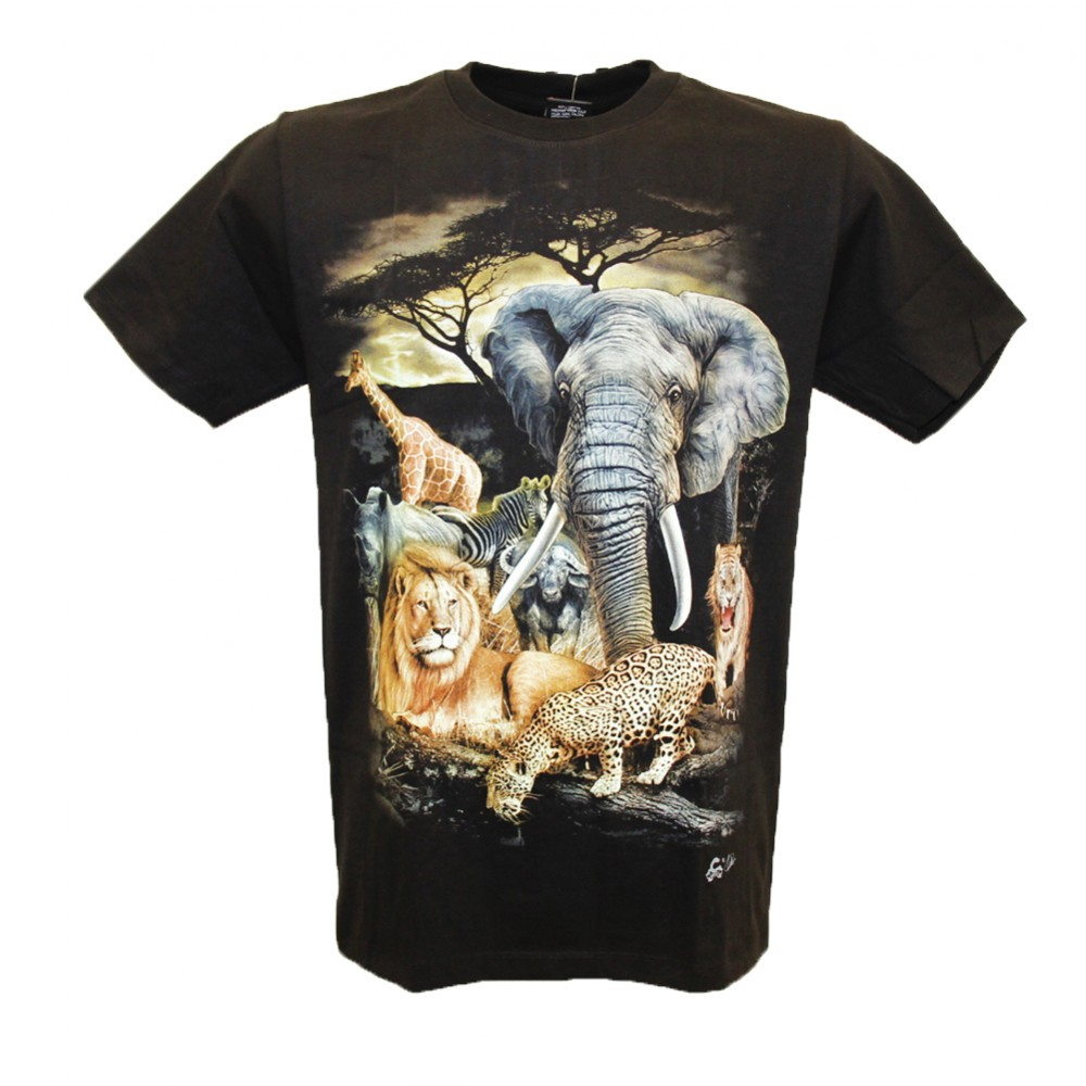 T-shirt Animals in the Jungle Glow in the Dark