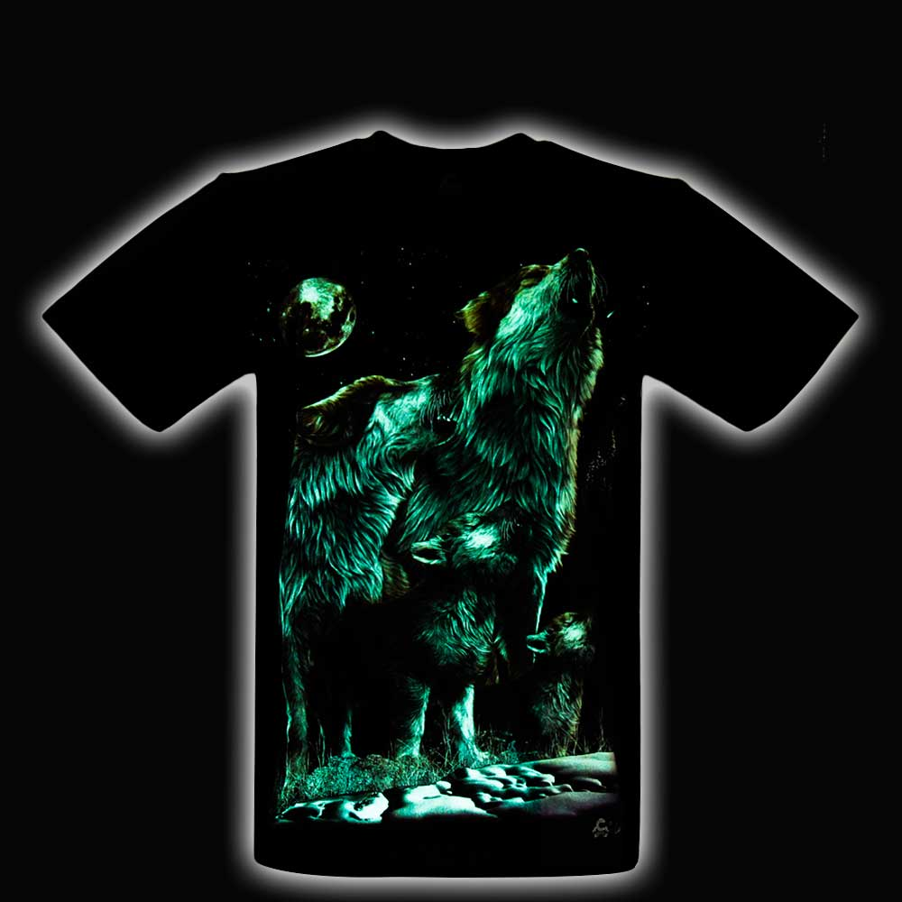 T-shirt Wolves Glow in the Dark