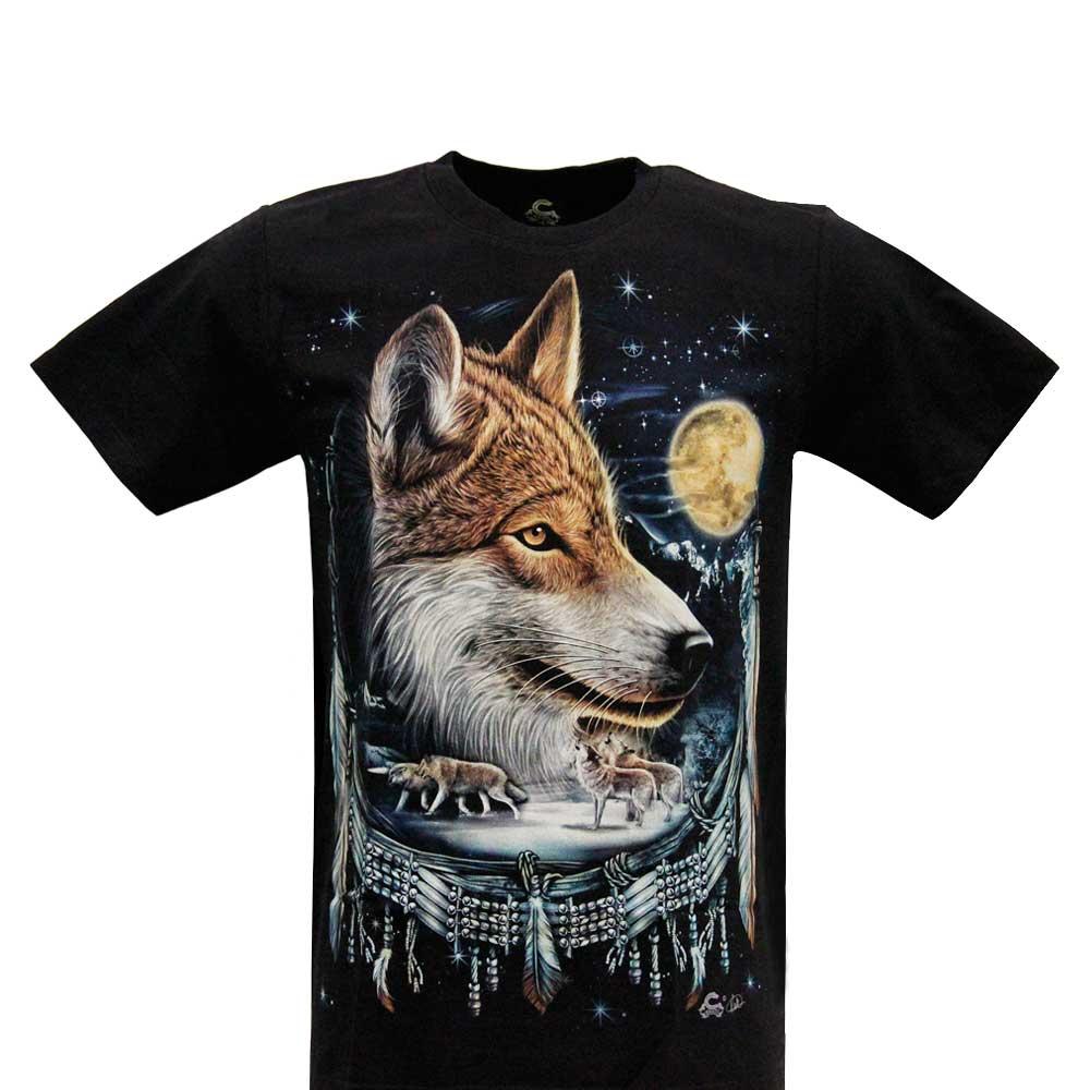 T-shirt Wolf Glow in the Dark
