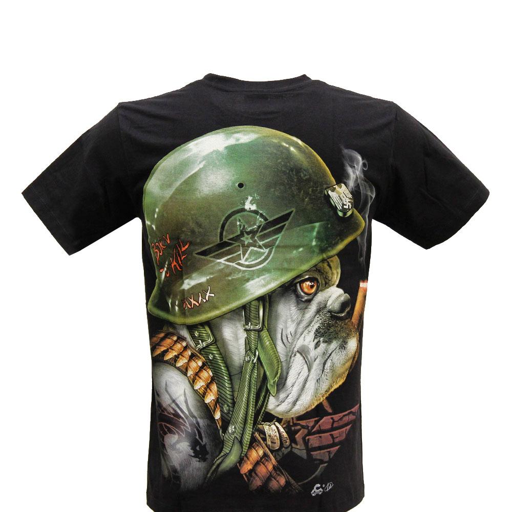 T-shirt Noctilucent Dog with Helmet