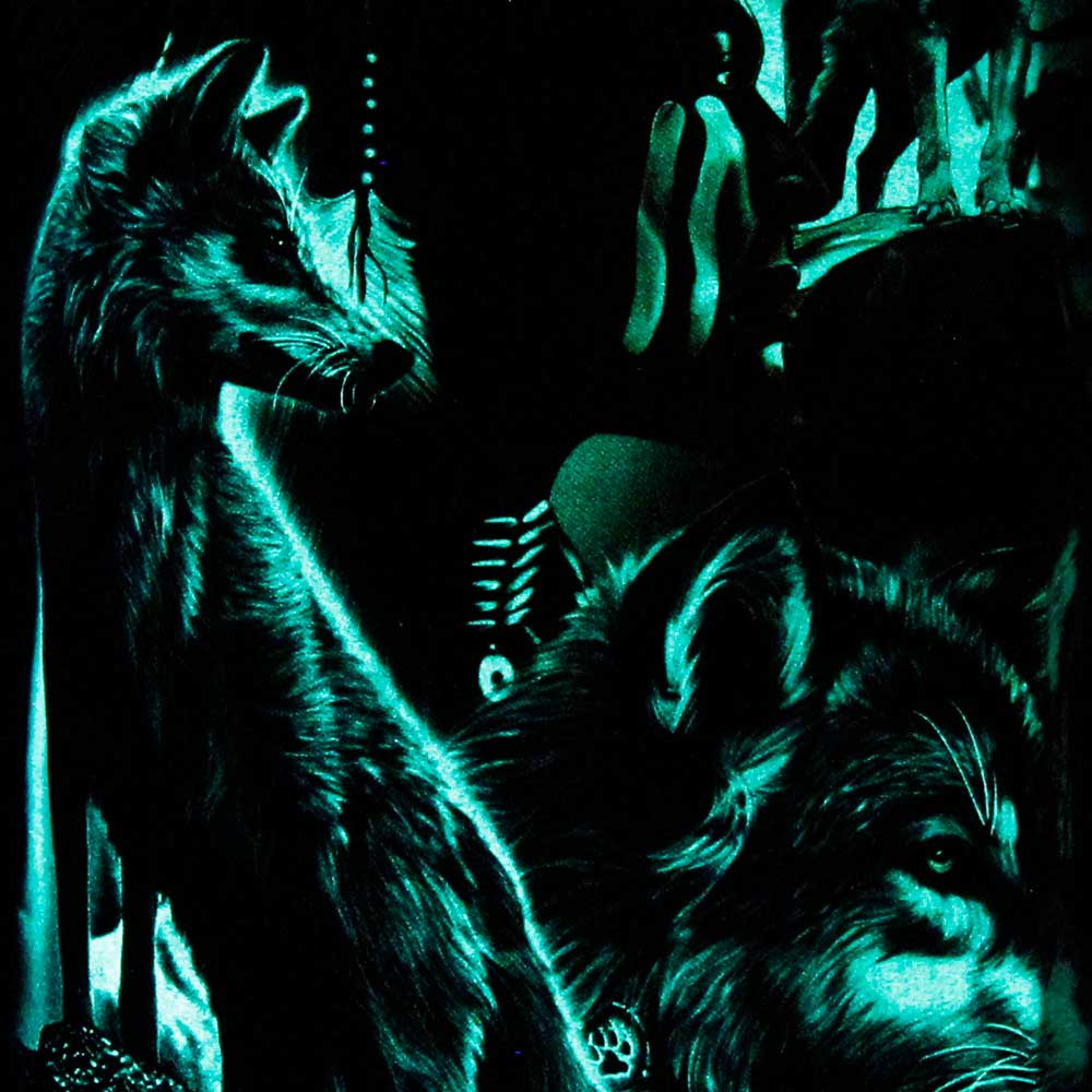 T-shirt Noctilucent Wolves and Indian