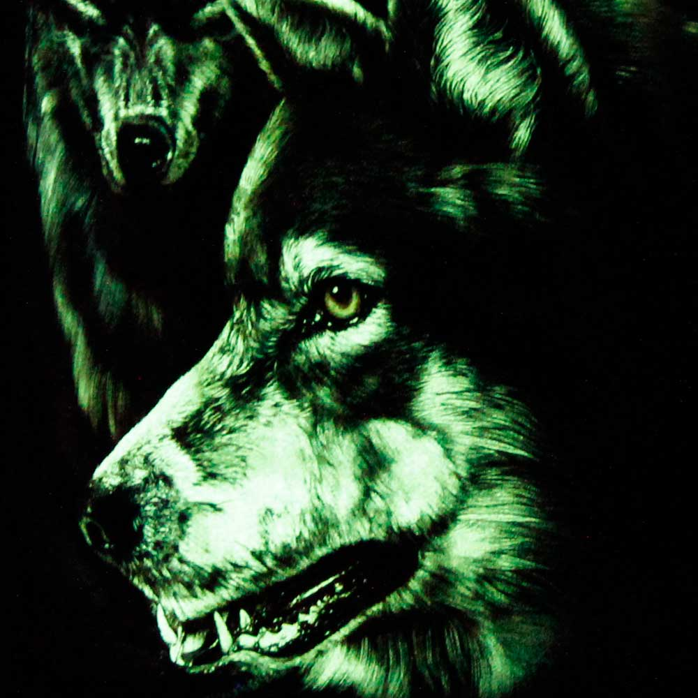 T-shirt Noctilucent Wolves
