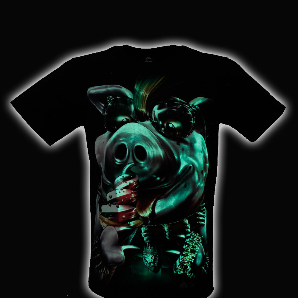 T-shirt Noctilucent Pig
