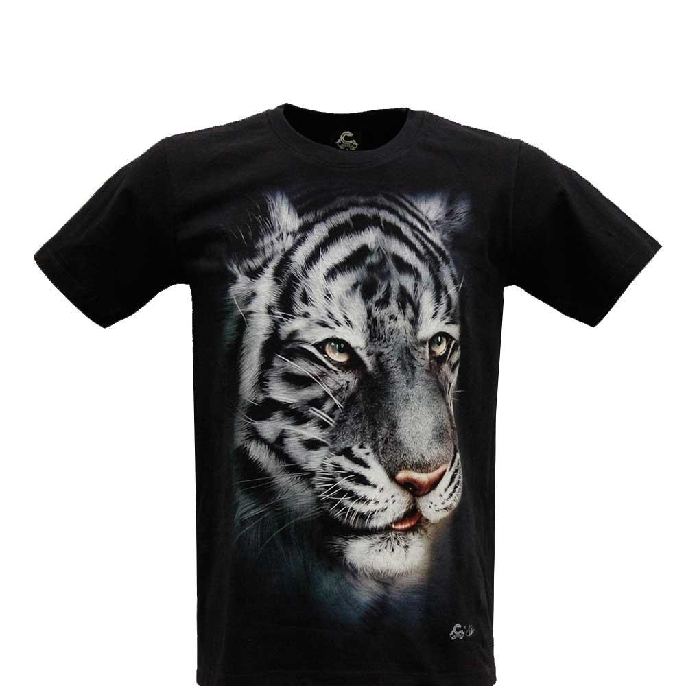 T-shirt White Tiger Glow in the Dark