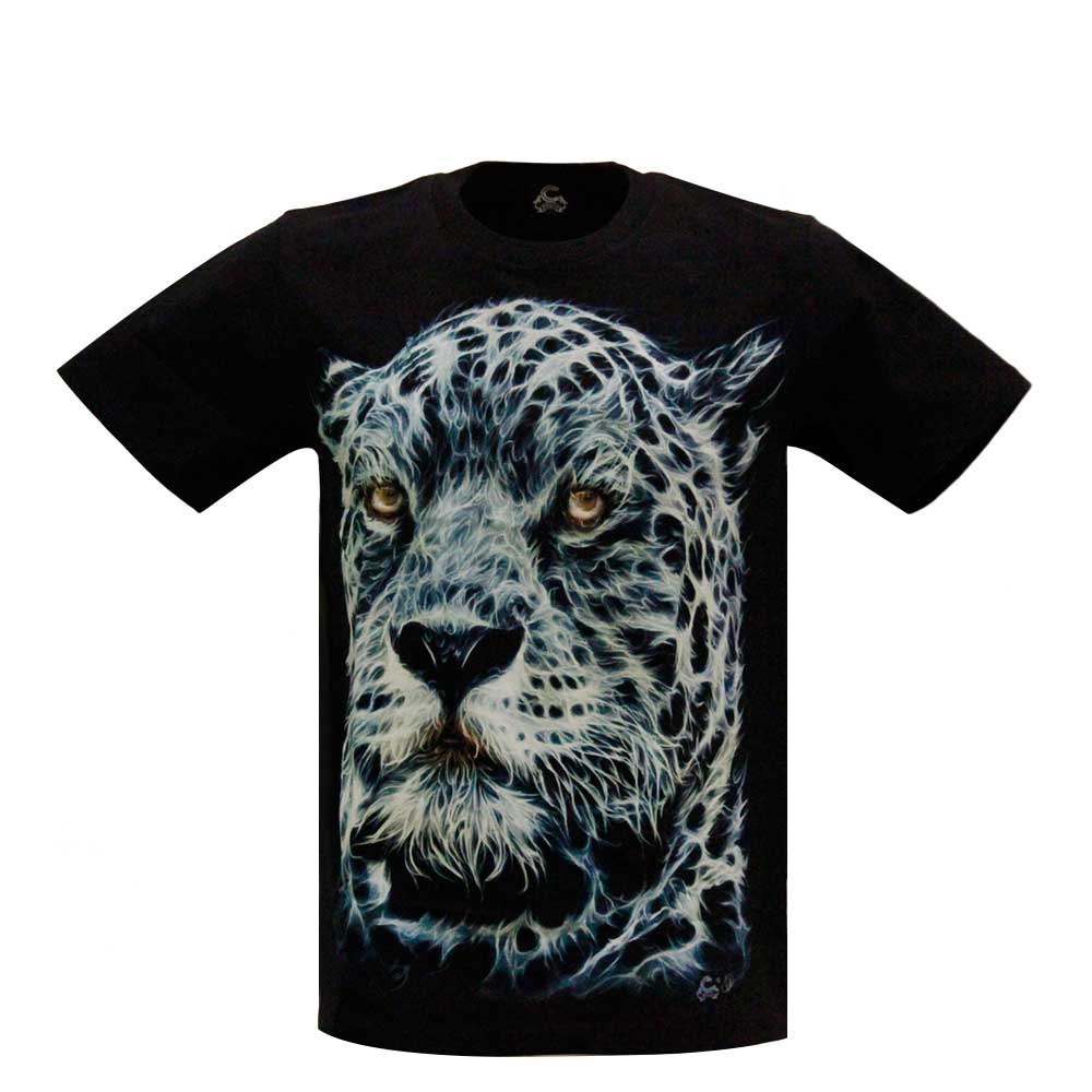 T-shirt Leopard Glow in the Dark