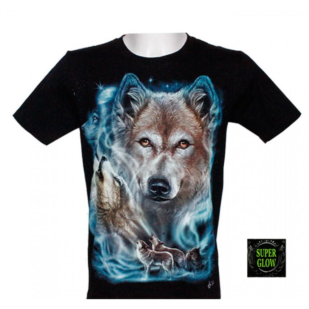 T-shirt Noctilucent Wolf