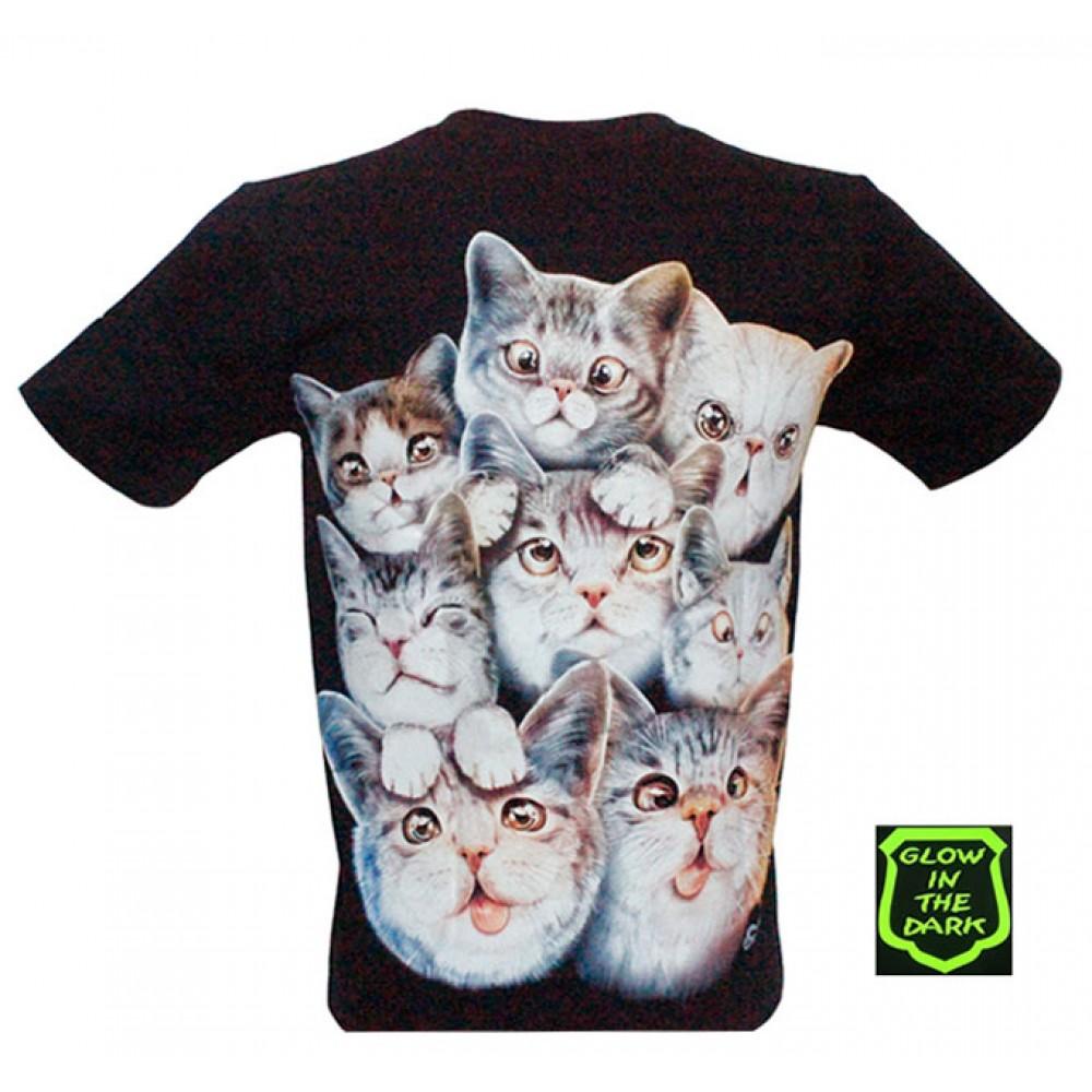 T-shirt Noctilucent Cats