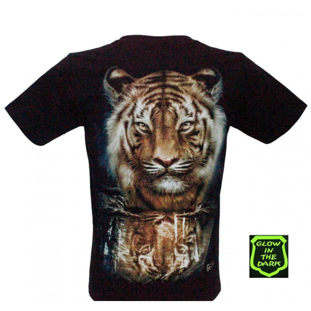 T-shirt Noctilucent Tiger