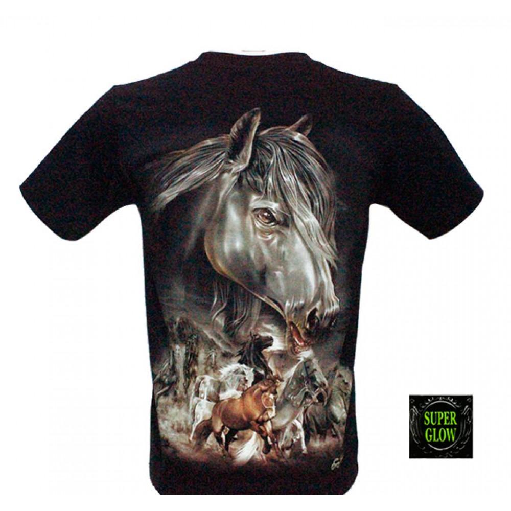 T-shirt Noctilucent Horses
