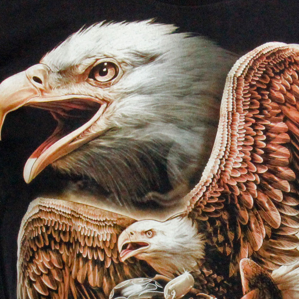 T-shirt Noctilucent Flying Eagle and Biker