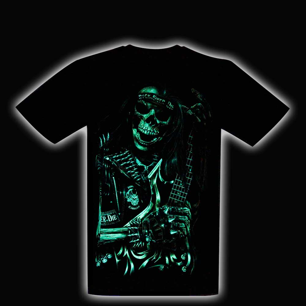 T-shirt Skull Glow in the Dark