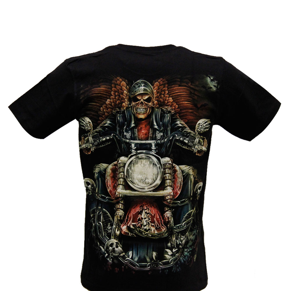 T-shirt Noctilucent Death with Motorcycle