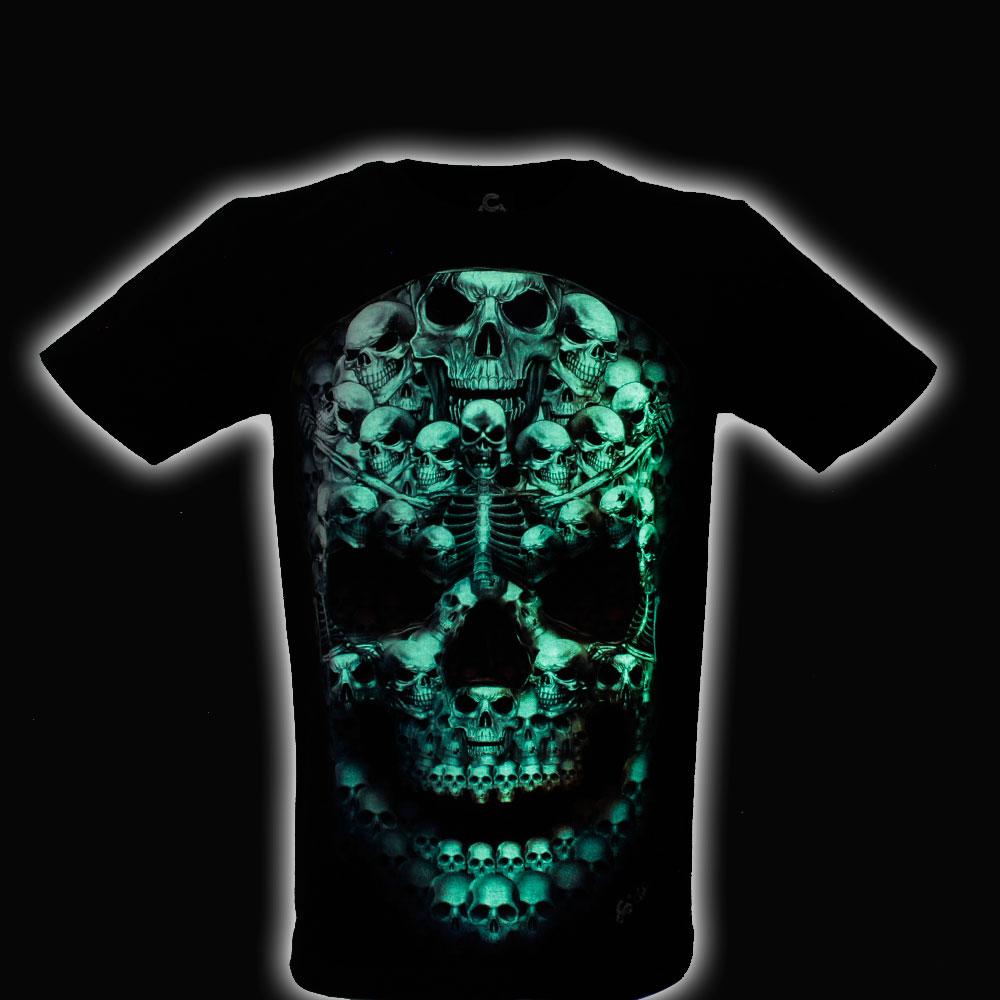 T-shirt Noctilucent Skull